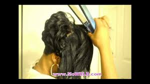 short hair style with sew in bang youtube