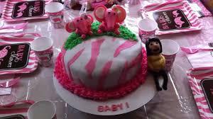 pink safari zebra baby shower cake youtube