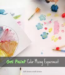 five minute crafts gel paint color mixing experiment left brain