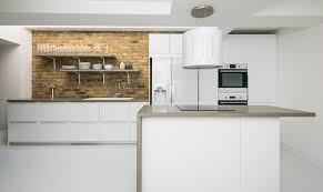 Kitchen Designer London A Chic Grey And White Kitchen And Living Space