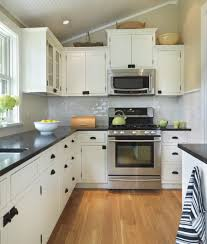 small fitted kitchen ideas l shaped kitchen with stainless steel range gas and refrigerator