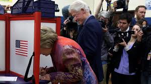 Hillary Clinton Chappaqua Hillary Bill Clinton Cast Ballots The Washington Post