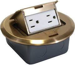 orbit flbpu d br 6 brass pop up floor box with receptacle and