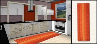 tappeti x cucina tappeti stuoia cucina arancione