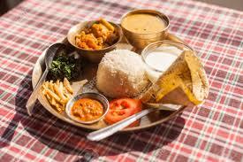 vegetarian nepali thali dal bhat set the traditional dinner