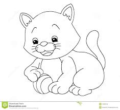 puppy kitten clipart black white clipartxtras