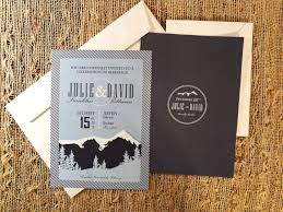 mountain wedding invitations mountain wedding invitation modern custom design 2 25 via