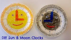 how to make easy paper plate clock for kids great daylight