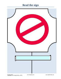 esl english vocabulary taboos public notices signs rules