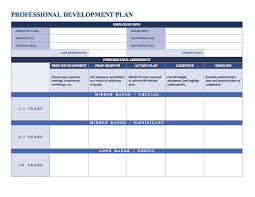 sample hr action plan professionaldevelopmentplan word jpg free
