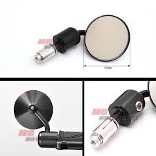 black round billet side bar end mirrors for virago 750 1100 road