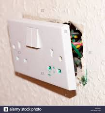 an electrical socket showing the problem of di osoctyl pathalate