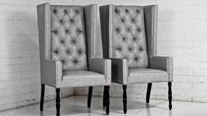 Blue Velvet Wingback Chair Wingback Dining Chair Image Of Leather Wingback Dining Chair Diy