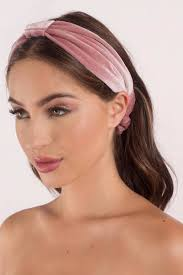 pink headband colette pink velvet bow band 9 tobi us