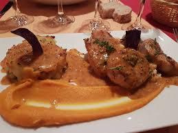 lapin de cuisine rable de lapin au beaufort et épinards sauce moutarde picture of