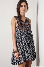 size sleeveless bohemian printed baby doll tunic shirt dress navy blue