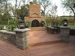 Deck With Patio Designs Backyard Deck Designs Simple Kitchen Detail