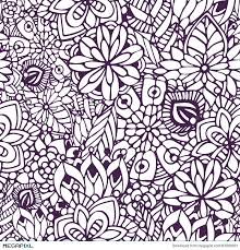zentangle coloring doodle seamless pattern vector