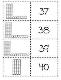 memory matching game place value base 10 blocks and cubes 18