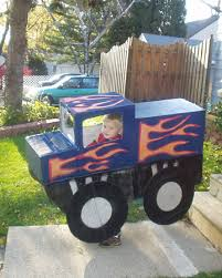 Truck Halloween Costume Monster Truck Costume Boxes Tape Paint Attached