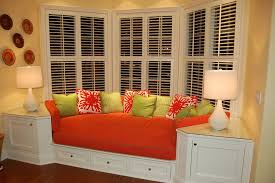 window treatment ideas for master bedroom bedroom astonishing bedroom bay window decor with orange padded