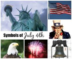 july 4th and patriotic symbols celebrating holidays