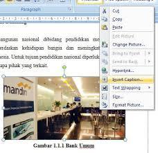 cara membuat daftar gambar word cara membuat daftar gambar tabel otomatis di word 2007 dan 2010