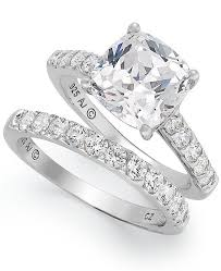 silver bridal rings images Arabella sterling silver ring set swarovski zirconia bridal ring tif