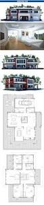 modern house plan with four bedrooms large master bedroom small