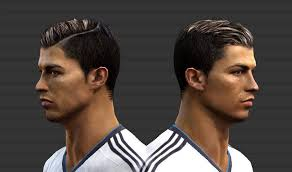 pes 2013 hairstyle ronaldo look in pes14 look at this hairstyle wow graphics looks