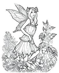 Coloring Pages For Older Adults Here Is A Very Detailed Fairy I Coloring Pages