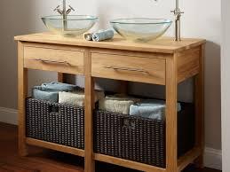 Narrow Bathroom Sink by Bathroom Sink Brilliant Bathroom Tasteful Oak Wooden Unvarnished