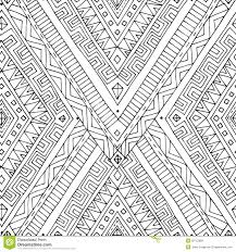 seamless asian ethnic black and white pattern stock vector