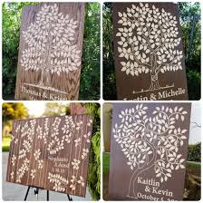 fall wedding guest book different shapes and sizes wooden guest book trees