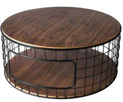 round wood and metal end table 7 round coffee tables for industrial homes cute furniture