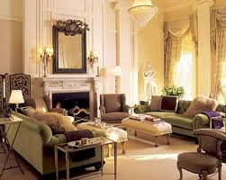 living room round white architectural pillars with cube beige