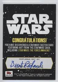 Star Wars Congratulations Card 2015 Topps Star Wars Journey To The Force Awakens Sketch Cards