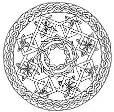 celtic knot mandala coloring page get coloring pages