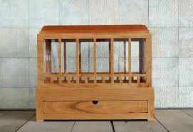 mission style solid cherry wardian case with drawer terrarium