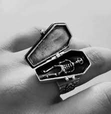 coffin ring 7 best coffin rings images on jewelry