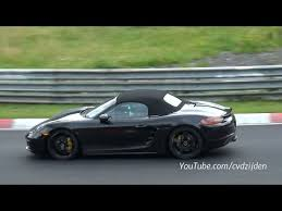 porsche boxster facelift 2017 porsche boxster facelift testing on the nurburgring