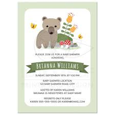 woodland baby shower invitations woodland baby shower invitations with cub toadstools