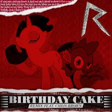 rihanna chris brown birthday cake rarity spike