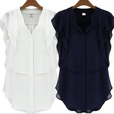 chiffon blouses for wholesale chiffon blouses for summer flouncing tops v neck