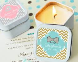 personalized baby shower favors baby shower candle etsy