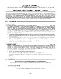 Maintenance Technician Resume Objective For Maintenance Resume Free Resume Example And Writing