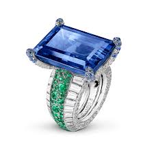 sapphire emerald rings images Love on the rocks sapphire and emerald ring de grisogono the p