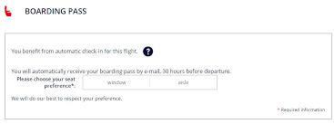 choisir siege air nouveau air libère le choix des sièges sur ses vols