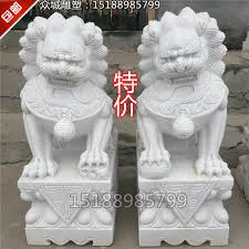 usd 91 22 carved white marble a pair of and