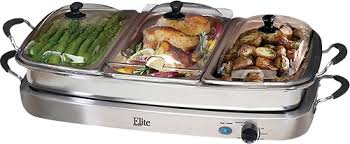 elite platinum triple deluxe buffet server silver ewm 9933 best buy